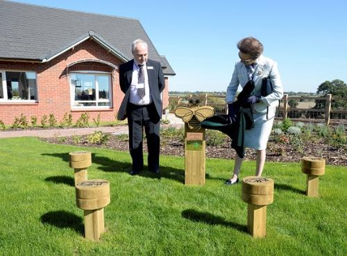 HRH Princess Royal Keyte Gardens unveiling sculpture