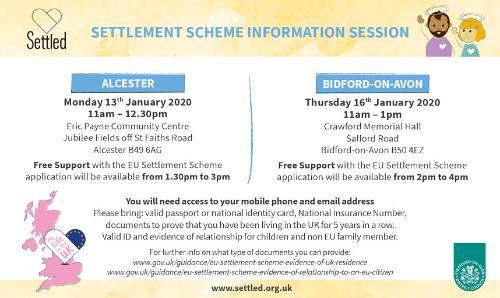 FREE EU Citizens' Rights Awareness Events - Alcester & Bidford